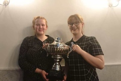 Fairbairn sisters with the junior team trophy